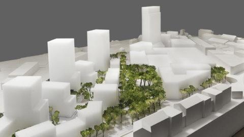 Hosoya Schaefer Architects Nordspitze Basel Migros Genossenschaft Model